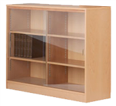 Adityas Furniture: BOOKCASE WITH SLIDING GLASS DOOR