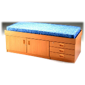 High Three Drawer/ Cupboard Bed