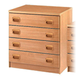 Four Large Drawers Unit